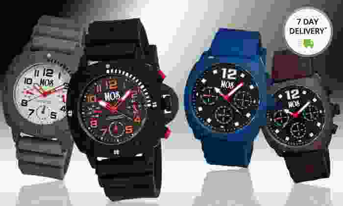 MOS Men's Silicone and Stainless Steel Watches: MOS Men's Silicone and Stainless Steel Watches. Multiple Styles Available.