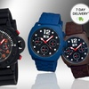 MOS Men's Silicone and Stainless Steel Watches