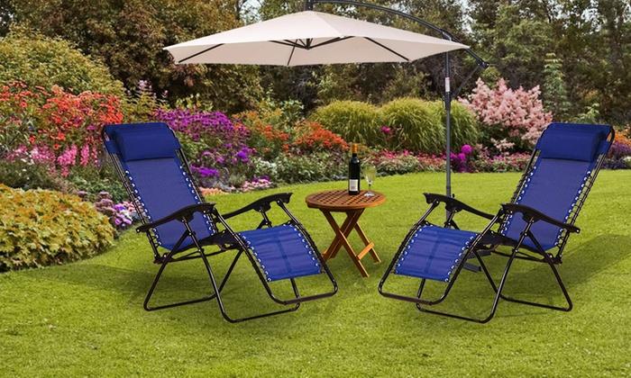Two Zero Gravity Reclining Garden Chairs (£49.99)