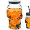 Glass Skull Drink Dispenser or Mason Jar Tumbler Sets