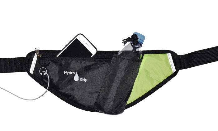 Running Belt with Bottle Holder and Phone Pouch : Running Belt with Bottle Holder and Phone Pouch
