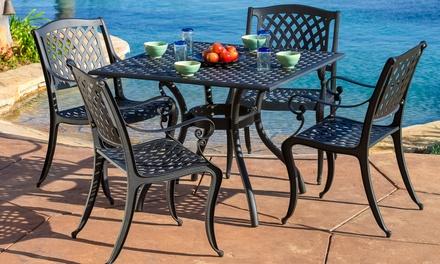 Henrietta Aluminum Dining Set (5-Piece)