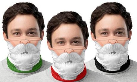 Hasta 3 máscaras faciales de Santa Claus