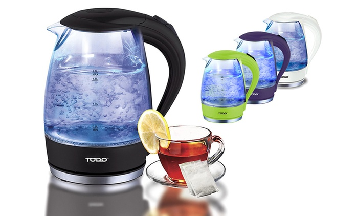 $39 for a Cordless LED Glass Kettle in Choice of Colour