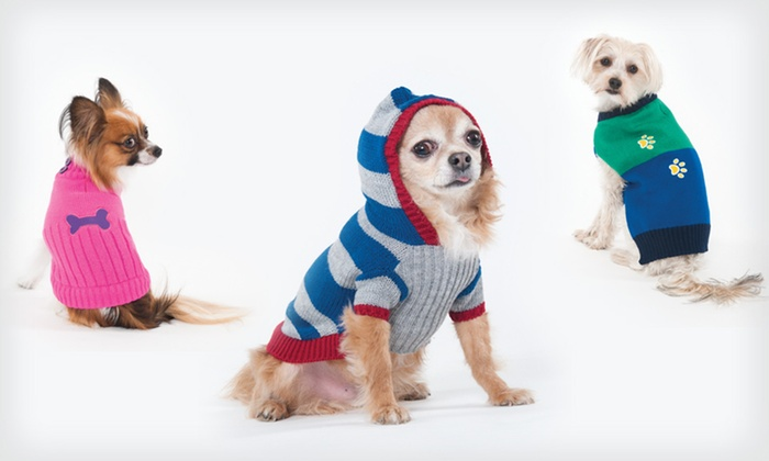 Fashion Dog Sweaters: Fashion Dog Sweaters (Up to 38% Off). Multiple Styles, Colours, and Sizes Available.