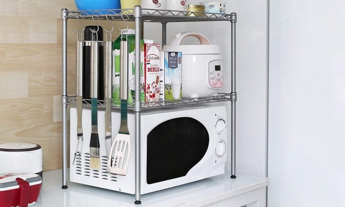 Microwave Kitchen Storage Shelves