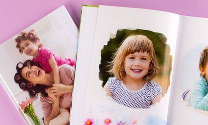 Up to Five Personalised A4 Landscape Hardcover Photobooks from Colorland (Up to 88% Off)