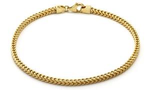 14K Solid Yellow Gold Women's Franco Bracelet