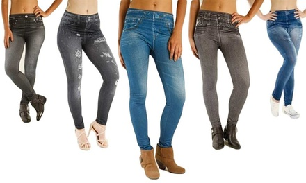 Three-Pack of  Slimming-Effect Jeggings for €16.99 (72% Off)