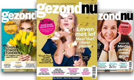 Ontvang 6, 12 of 24 nummers van gezondNU magazine, het abonnement stopt automatisch