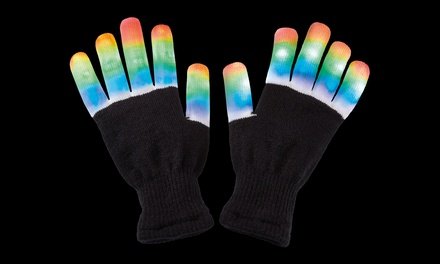 One or Two Pairs of LED LightUp Gloves