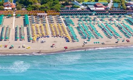 Camaiore: camera con colazione/m. pensione e serv. spiaggia per 2 a 94€euro