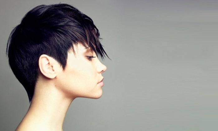 Thomas West Salon - Near North Side: Haircut and Style with Optional Partial or Full Highlights at Thomas West Salon (Up to 73% Off)