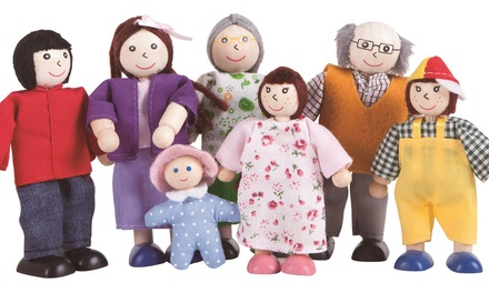Happy Family Wooden Toy Figures