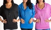 Be Up Activewear Women's Cowl Neck Dolman Top