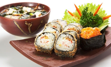 Sushi and Japanese Food at Hana Japanese Steak House and Sushi Bar (Up to 52% Off). Two Options Available.
