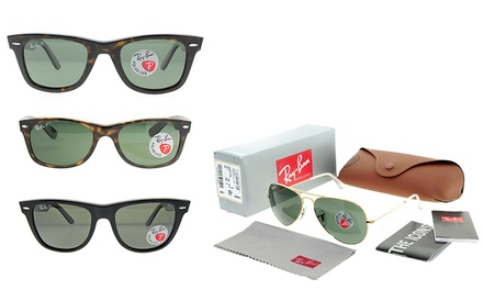 Ray-Ban Aviator or Wayfarer Sunglasses for Men and Women