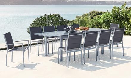 Sedie Da Giardino Offerte.Tavolo Estendibile E Sedie Da Esterno In Alluminio Disponibili In