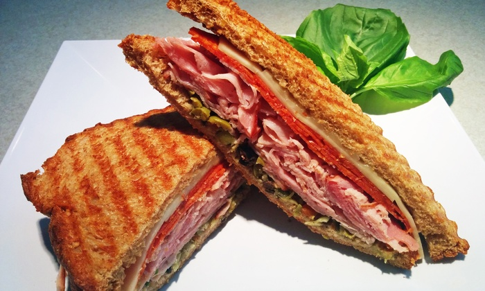 Paninis Plus - Far North Dallas: $17 for Meal for Two at Paninis Plus (Up to $28.50 Total Value)