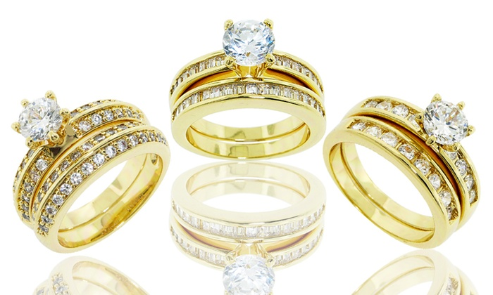 Wedding and Engagement Ring Sets: $19.99 for a Wedding and Engagement Ring Set ($99.99 List Price). Multiple Styles Available. Free Shipping and Returns.