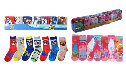 SevenPack of Kids' CharacterThemed Socks for £5.99