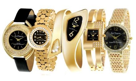 Relojes So Charm Parisdecorados con un diamante o/y cristales Swarovski®
