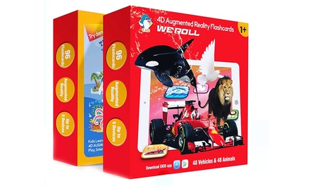 $39 for the 4D Augmented Reality 96 Flashcards Box Kids' Educational Interactive Toy