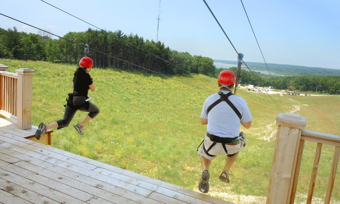 Lake Geneva Canopy Tours - Geneva: 2.5-Hour Canopy Tour for Two or Four at Lake Geneva Canopy Tours (Up to 27% Off)