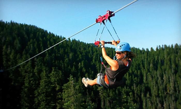 Zoom Ziplines - Zoom Zipline Mountain Creek: Two-Hour Zipline Experience for Two or Four at Zoom Ziplines in Vernon (Up to 53% Off)