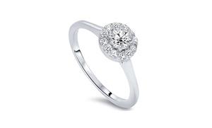 1/2 Cttw Diamond Ring In 14k White Gold