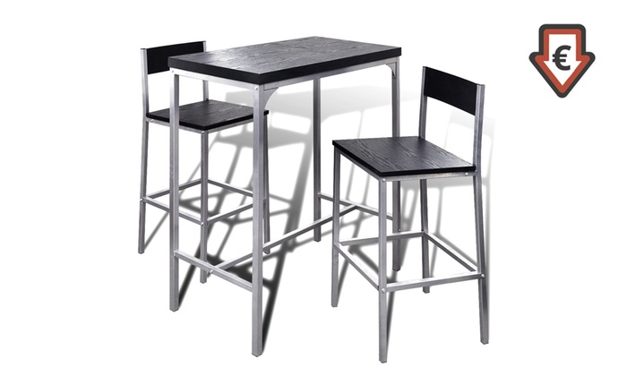 Tavoli E Sgabelli Alti Da Bar.Set Alto Da Bar Da Colazione Con Tavolo E Sgabelli A 67 95 49 Di Sconto