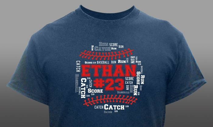92d5c1d3 Up to 57% Off Baseball Custom T-Shirts | Groupon
