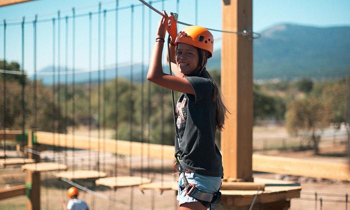 Entrada para un día completo a DiverNaturaPark Guadarrama y circuito multiaventura para niños desde 14,95 €