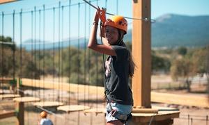 Diver Natura Park: Entrada para un día completo a DiverNaturaPark Guadarrama y circuito multiaventura para niños y adultos desde 14,95 €