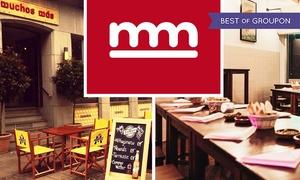 Muchos Más Bar Español: Spanische Tablas, Tapas-Variation und Wein für 2 oder 4 Personen in der Muchos Más Bar Español (bis zu 43% sparen*)