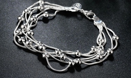 One, Two or Three Dangling Link Bracelets