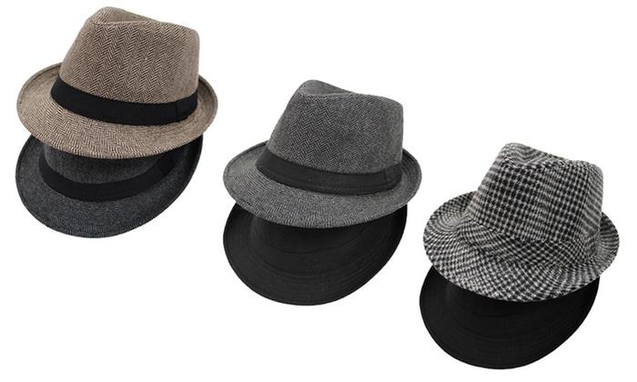 Men's Fedora Hats (2-Pack)