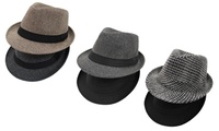 2-Pack Frenchic Mens Fedora Hats (Multi Styles)
