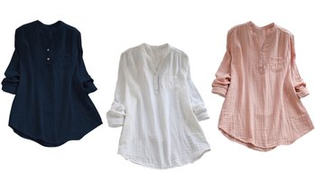 Women's Summer Baggy Long Sleeve Blouse
