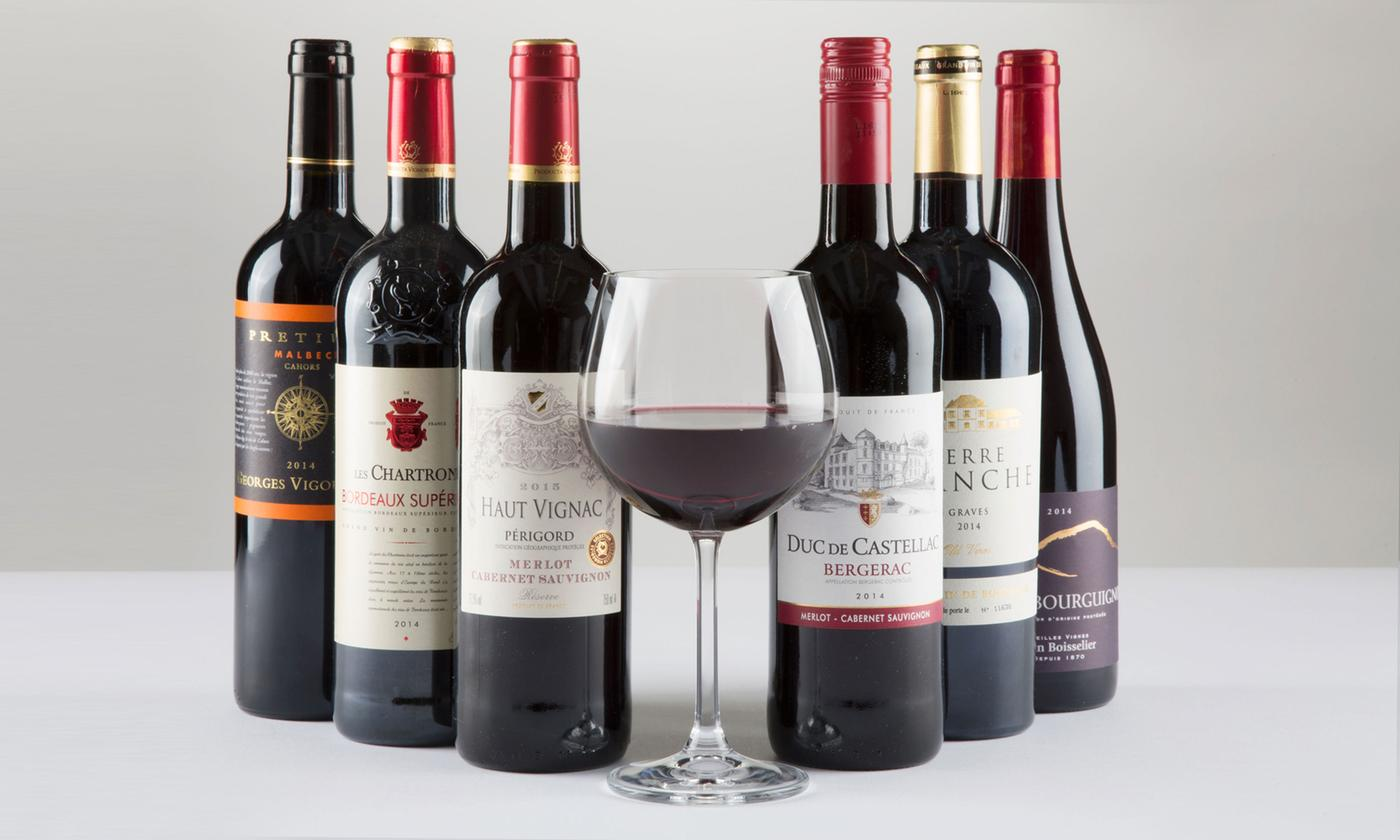 Six Bottles of French Red Wines