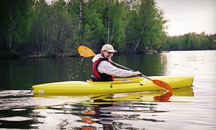 Alaska Kayak Academy - Matanuska-Susitna: Two-Hour Beginners' Kayaking Class for One, Two, or Four from Alaska Kayak Academy (Up to 54% Off))