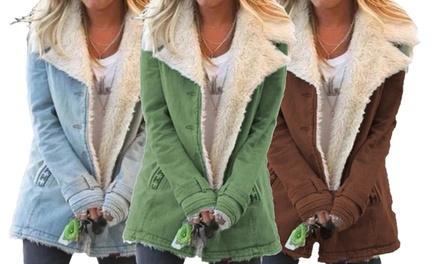 Manteau court pour femme doublé