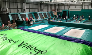 Bounce Village: One-Hour Trampoline Park Access for up to Four at Bounce Village (30% Off)