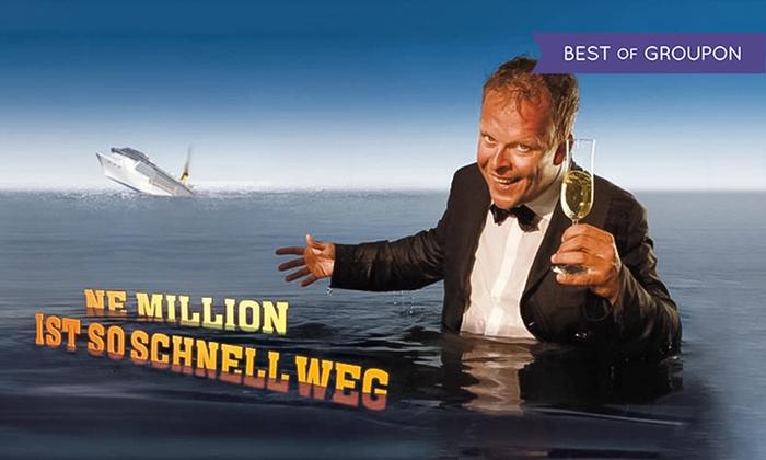 """Ne Million ist so schnell weg - Admiralspalast Studio, Seiteneingang links: Karsten Kaie """"Ne Million ist so schnell weg"""" von Oktober bis Dezember im Admiralspalast Berlin (bis zu 45% sparen)"""