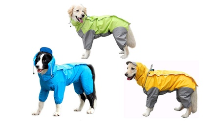 From $22 for a Hooded Raincoat for Pets in a Choice of Size and Colour