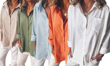 Women's Relaxed Fit and Soft-Touch Longsleeve Shirt: One ($19) or Two ($29.95)