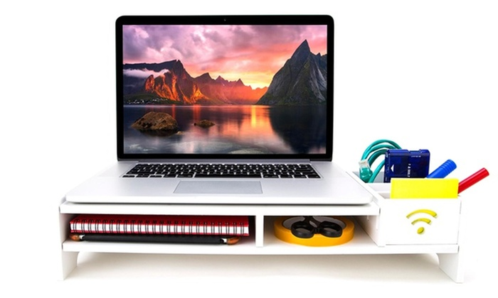 Mushaa: Monitor Stand Desk Organiser in Choice of Design (AED 49-89)