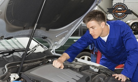 Major Car Service with Wheel Alignment $59 or 2 Cars $99 at Churchill Tyre Service, Kilburn Up to $590 Value