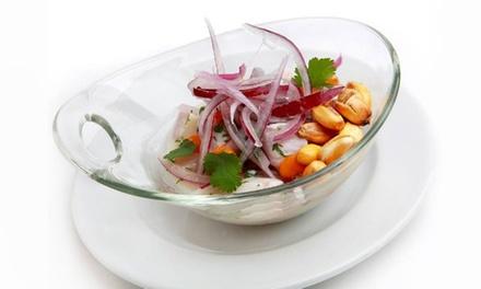 Menú degustación peruano para 2 con entrantes, principales, postre y bebida por 59,95 € en La Gloria by Occhi & Monzón