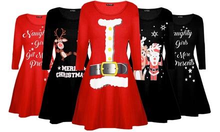 Be Jealous Christmas Swing Dress